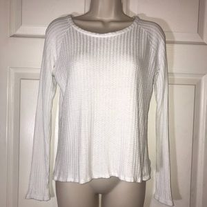 Chaser white waffle knit thermal